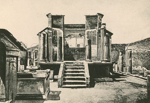 The Temple of Isis as it is. Illustration for Pompei Past and Present (Beccarini, c 1900).