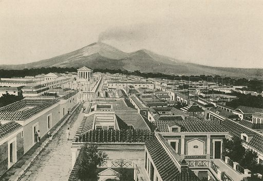 The Panorama of Pompei as it was. Illustration for Pompei Past and Present (Beccarini, c 1900).