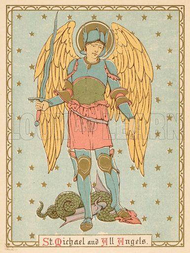 St Michael and all Angels. Illustration for Red Letter Saints (SPCK, c 1880).