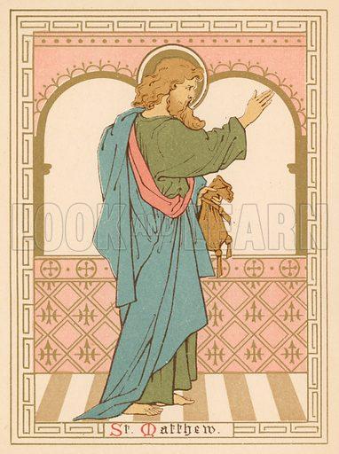 St Matthew. Illustration for Red Letter Saints (SPCK, c 1880).