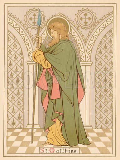 St Matthias. Illustration for Red Letter Saints (SPCK, c 1880).