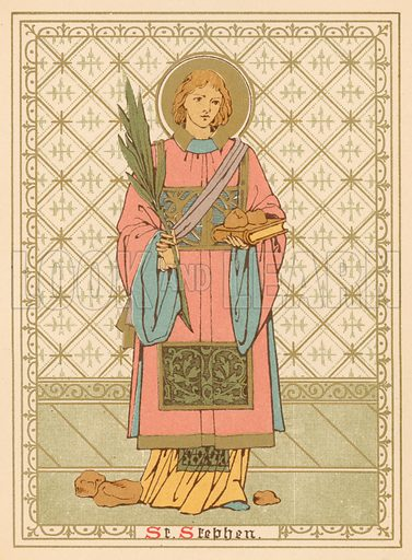 St Stephen. Illustration for Red Letter Saints (SPCK, c 1880).