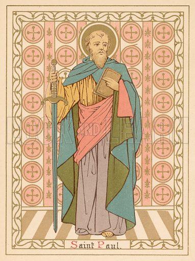 Saint Paul. Illustration for Red Letter Saints (SPCK, c 1880).