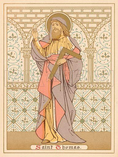 Saint Thomas. Illustration for Red Letter Saints (SPCK, c 1880).