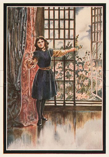 """That's Fresh Air,"" she said. ""Lie on your back and draw in Long Breaths of it."" Illustration for The Secret Garden by Frances Hodgson Burnett (Heinemann, c 1910)."