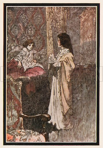 """""""Who are you?"""" He said at last. """"Are you a Ghost?"""" Illustration for The Secret Garden by Frances Hodgson Burnett (Heinemann, c 1910)."""