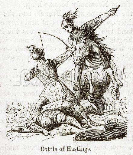 Battle of Hastings. Illustration for Little Arthur's History of England by Lady Callcott (John Murray, 1888).