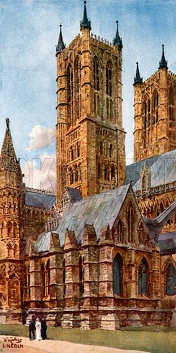 Lincoln's West Towers, picture, image, illustration