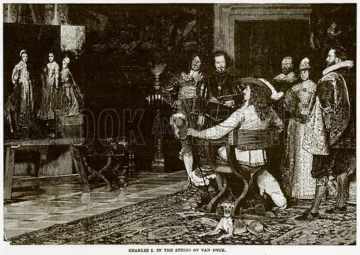 Charles I in the Studio of Van Duck. Illustration for Footprints of the World's History by William Bryan (Historical Publishing, 1891).