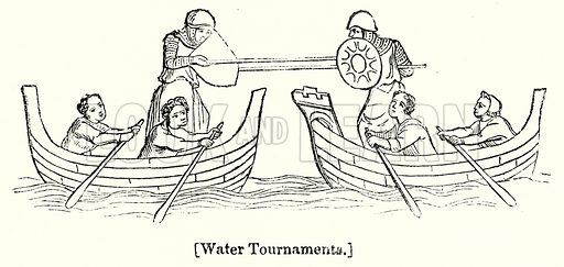 Water Tournaments. London edited by Charles Knight (Virtue, c 1880).
