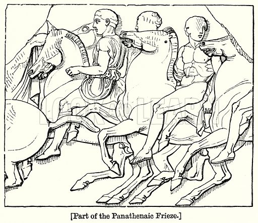 Part of the Panathenaic Frieze. London edited by Charles Knight (Virtue, c 1880).
