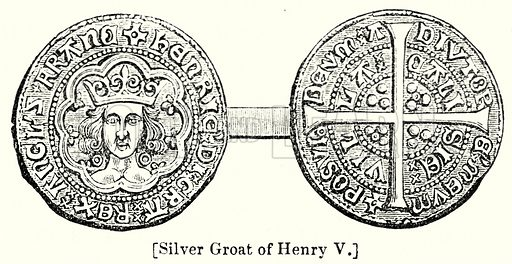Silver Groat of Henry V. London edited by Charles Knight (Virtue, c 1880).