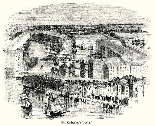 St. Katherine's Docks. London edited by Charles Knight (Virtue, c 1880).