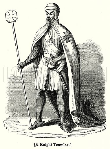 A Knight Templar. London edited by Charles Knight (Virtue, c 1880).
