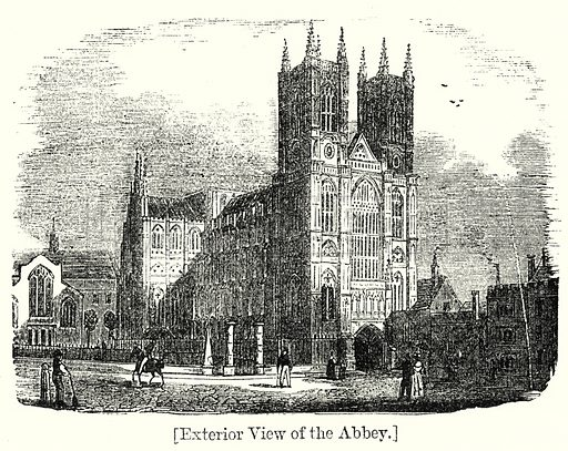 Exterior View of the Abbey. London edited by Charles Knight (Virtue, c 1880).