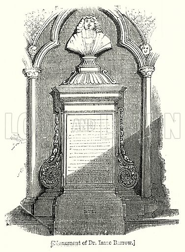 Monument of Dr Isaac Barrow. London edited by Charles Knight (Virtue, c 1880).