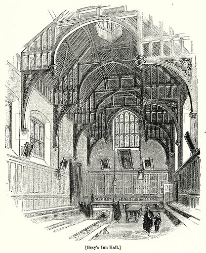 Gray's Inn Hall. London edited by Charles Knight (Virtue, c 1880).