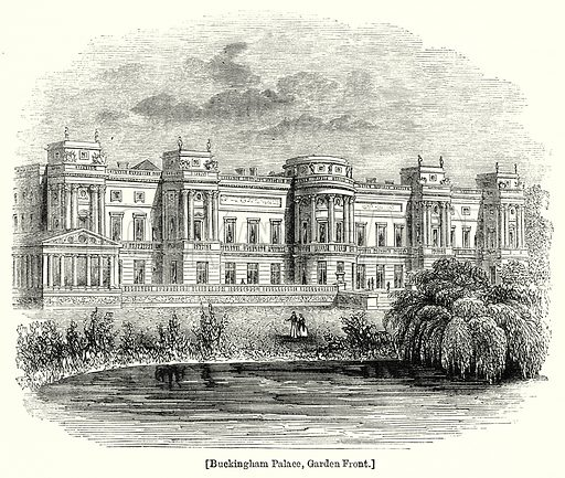 Buckingham Palace, Garden Front. London edited by Charles Knight (Virtue, c 1880).