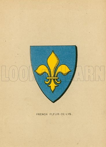 French Fleur-de-Lys. Illustration for The National Arms of the United Kingdom by James King (Hatchards, c 1890).