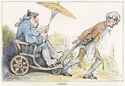 Luxury. Illustration for Rowlandson the Caricaturist by Joseph Grego (Chatto and Windus, 1880).  Illustrations sometimes with contemporary hand colouring.