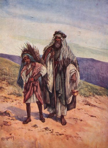 Abraham's Sacrifice. Illustration for Stories from the Old Testament ( AB Shaw, c 1910).