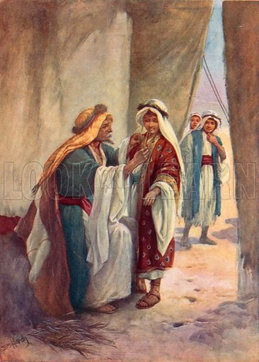 Joseph in his Father's Tent. Illustration for Stories from the Old Testament ( AB Shaw, c 1910).
