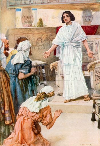 Joseph Reveals himself to his Brothers. Illustration for The Precious Gift: Bible Stories for Children by TW Wilson (Blackie, c 1910).