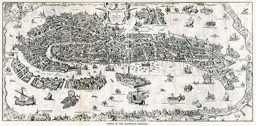 Venice in the Sixteenth Century. Illustration for Venice and its Story by T Okey (Dent, 1910).