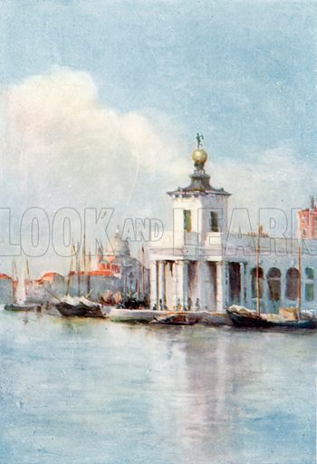 The Customs House. Illustration for Venice and its Story by T Okey (Dent, 1910).