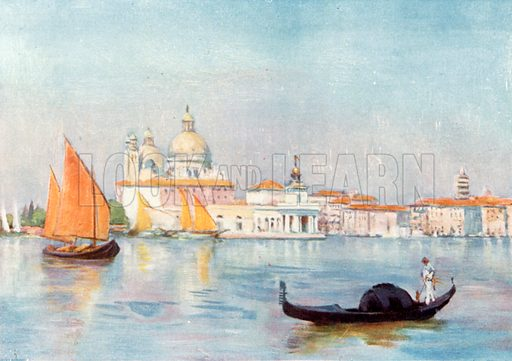 Basin of S Marco. Illustration for Venice and its Story by T Okey (Dent, 1910).