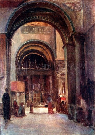 S Marco – Interior – Chapel of S Clemente. Illustration for Venice and its Story by T Okey (Dent, 1910).