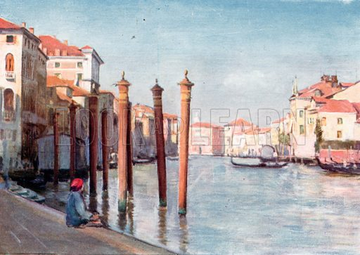 On the Grand Canal. Illustration for Venice and its Story by T Okey (Dent, 1910).