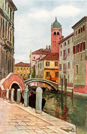S Fosca and Palazzo Giovanelli. Illustration for Venice and its Story by T Okey (Dent, 1910).