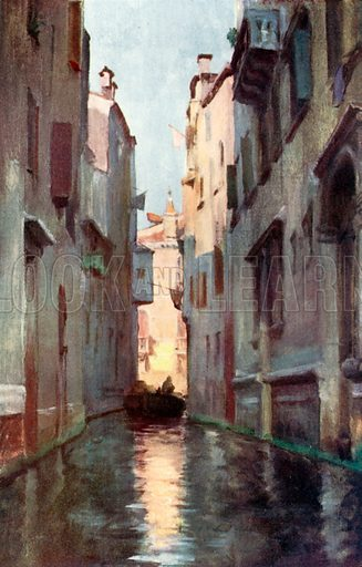 Rio S Cassiano. Illustration for Venice and its Story by T Okey (Dent, 1910).