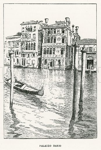 Palazzo Dario. Illustration for Venice and its Story by T Okey (Dent, 1910).