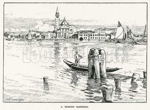 S Giorgio Maggiore. Illustration for Venice and its Story by T Okey (Dent, 1910).