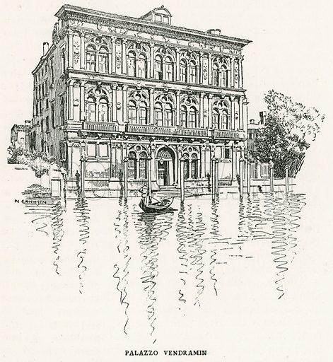Palazzo Vendramin. Illustration for Venice and its Story by T Okey (Dent, 1910).