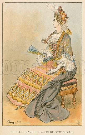Sous le Grand Roi. – Fin du XVIIe Siecle. Illustration for Yester-Year – Ten Centuries of Toilette from the French of A Robida by Mrs Cashel Hoey (Sampson Low, 1892).