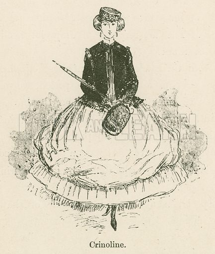 Crinoline. Illustration for Yester-Year – Ten Centuries of Toilette from the French of A Robida by Mrs Cashel Hoey (Sampson Low, 1892).