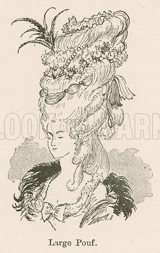 Large Pouf. Illustration for Yester-Year – Ten Centuries of Toilette from the French of A Robida by Mrs Cashel Hoey (Sampson Low, 1892).