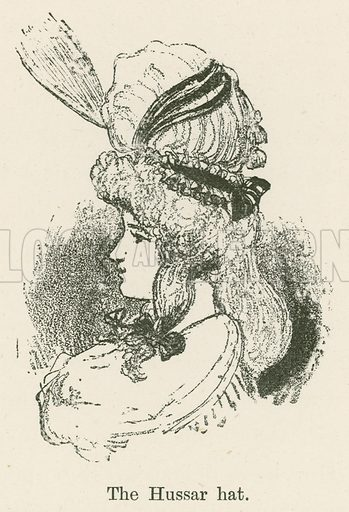 The Hussar Hat. Illustration for Yester-Year – Ten Centuries of Toilette from the French of A Robida by Mrs Cashel Hoey (Sampson Low, 1892).