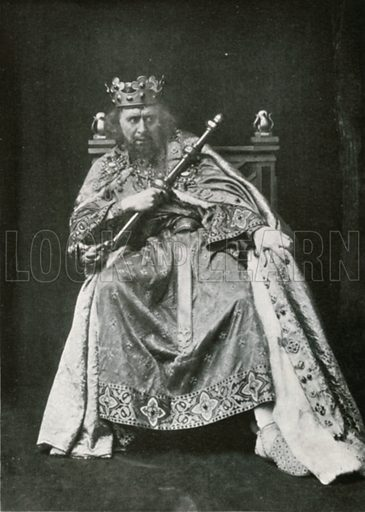 Mr Beerbohm Tree as 'King John'. Illustration for The Windsor Shakespeare edited by Henry Hudson (Caxton, c 1925).
