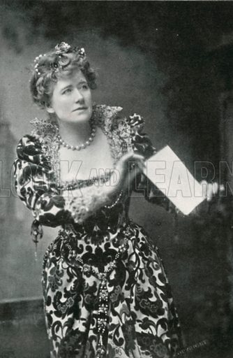 Miss Ellen Terry as 'Beatrice.' Illustration for The Windsor Shakespeare edited by Henry Hudson (Caxton, c 1925).