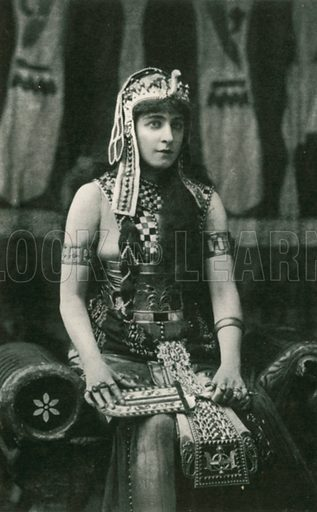 Mrs Langtry as 'Cleopatra'. Illustration for The Windsor Shakespeare edited by Henry Hudson (Caxton, c 1925).