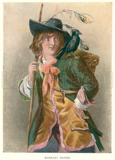 Barnaby Rudge. Illustration for Barnaby Rudge by Charles Dickens (Caxton Publishing, c 1900).