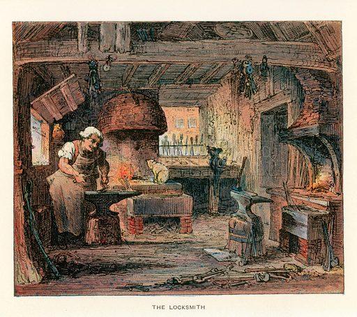Locksmith, picture, image, illustration