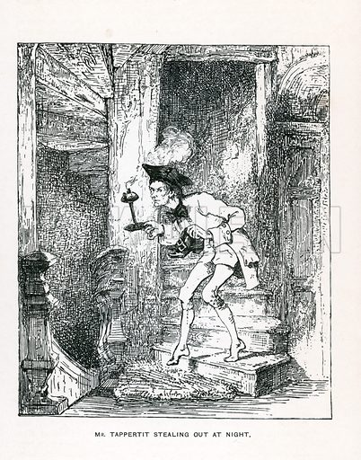 Illustration for Barnaby Rudge by Charles Dickens (Caxton Publishing, c 1900).