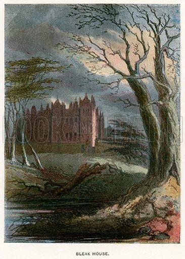 Bleak House. Illustration for Bleak House by Charles Dickens (Caxton Publishing, c 1900).