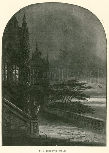 The Ghost's Walk. Illustration for Bleak House by Charles Dickens (Caxton Publishing, c 1900).