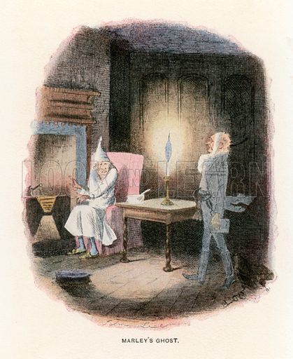 Illustration for A Christmas Carol by Charles Dickens (Caxton Publishing, c 1900).